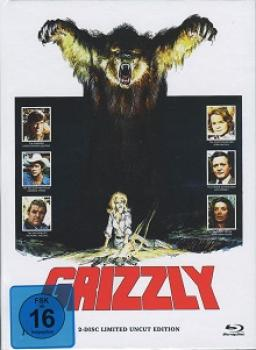 Grizzly - 2-Disc Limited Uncut Edition Mediabook (Cover A) BLU-RAY+DVD - limitiert auf 250 Stück