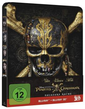 Pirates of the Caribbean Salazars Rache 3D (inkl. 2D) - Steelbook Edition (2Discs)